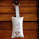Handmade Linen Smile Key Ring