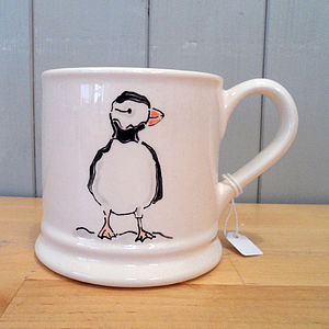 Hand Painted Ceramic Mug - mugs