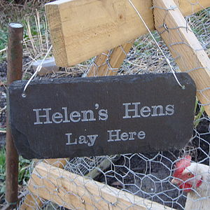 Personalised Slate Chicken Shed Sign - art & decorations