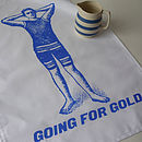 Going For Gold Tea Towel