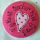 Personalised Teacher Mirror (Bright Pink)