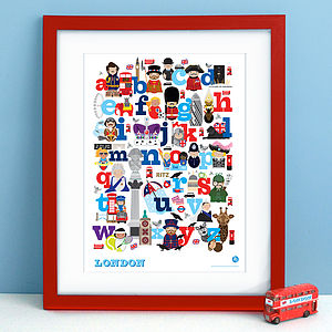 Alphabet Of London Print - children's room