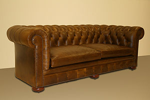 Large Chesterfield Sofa - furniture