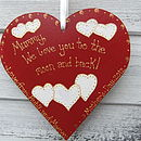Mum's Personalised Keepsake Heart