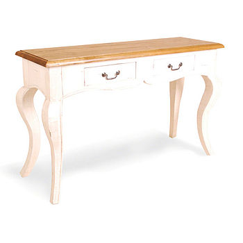 Brocante Two Drawer Console Table