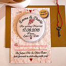 Antique Roses - Save the Date Magnet Postcard