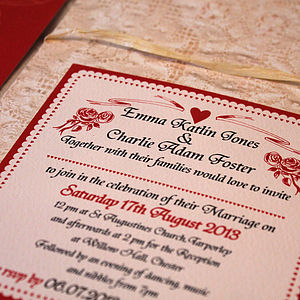 Antique Roses Wedding Stationery Range