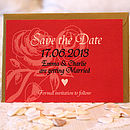 Antique Roses - Save the Date Postcard