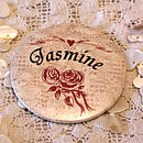 Antique Roses - Personalised Mirror Favour