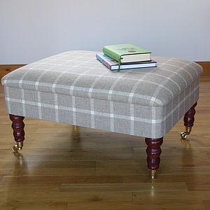 Bespoke Upholstered Storage Footstool - furniture
