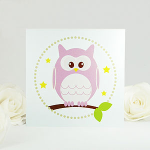 Stars And Owl Greeting Card