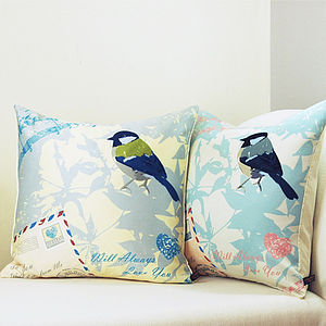 Airmail With Bird Cushion - living room