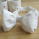 Silk Headband With Double Bow