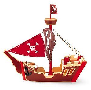 Wooden Pirate Ship - collector's toys & games