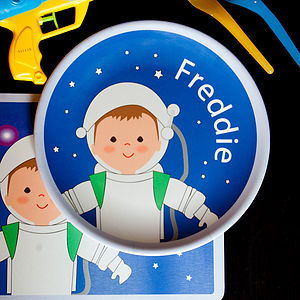 Personalised Astronaut Plate - children's tableware