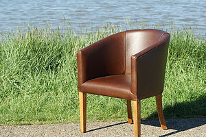 Leather Tub Chair - furniture