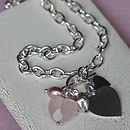 Sterling Silver Rose Heart Necklace