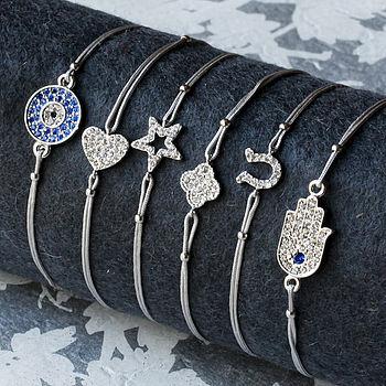 Silver Pave Symbolic Friendship Bracelet