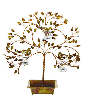Woodland Birds Tealight Holder