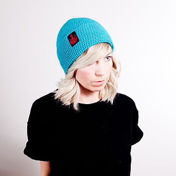 Organic Cotton Hat With Anchor Patch