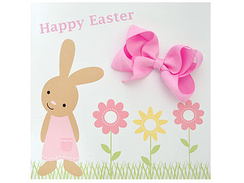 Easter Card With Hair Bow