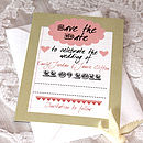 Sweethearts - Save the Date Postcard