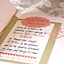 Sweethearts - Square Card Invitation Inside