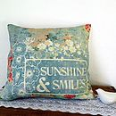 Sunshine + smiles cushion