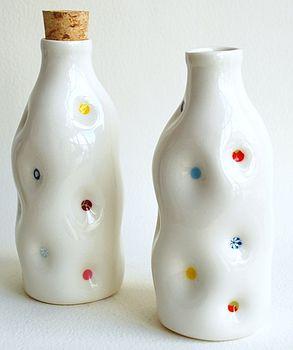 Porcelain Milk Bottle