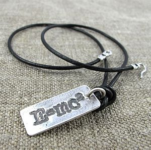 'E=Mc²' Silver Pendant Necklace - necklaces