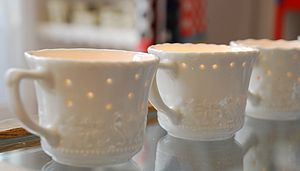Porcelain Tea Light Holder - candles & candlesticks