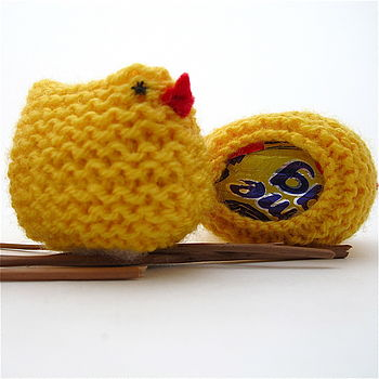 Knitted Easter Chick Egg Cover