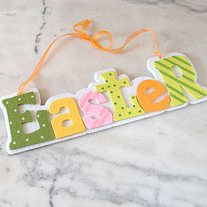Easter Hanging Sign - easter decorations
