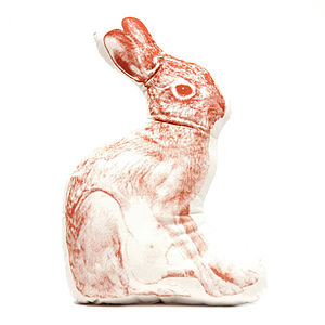 Organic Rabbit Cushion - soft furnishings & accessories