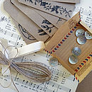 gift wrap set ribbon tags sheet music