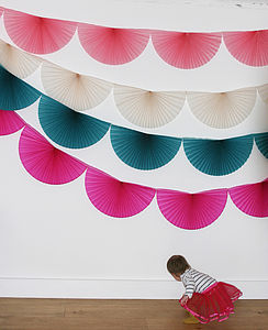 Paper Fan Bunting Garland - view all decorations