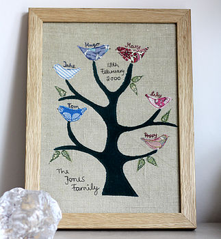 Personalised Family Tree Applique