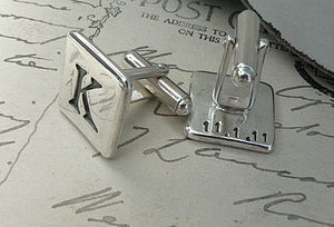 Personalised Silver Cufflinks - gifts for him