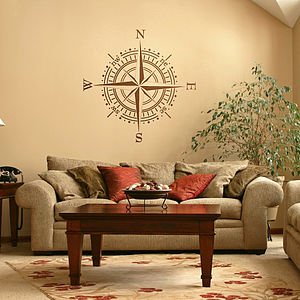 Cartographer's Compass Wall Sticker