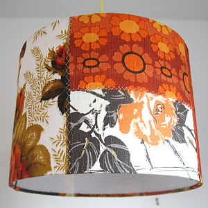 Dottie Rose Patchwork Lampshade - living room