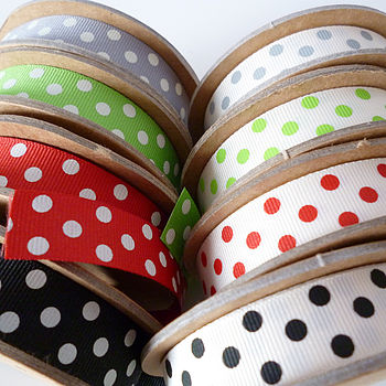 Polka Dot Grosgrain Ribbon Spool