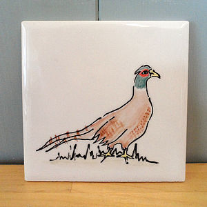 Hand Painted Ceramic Coaster
