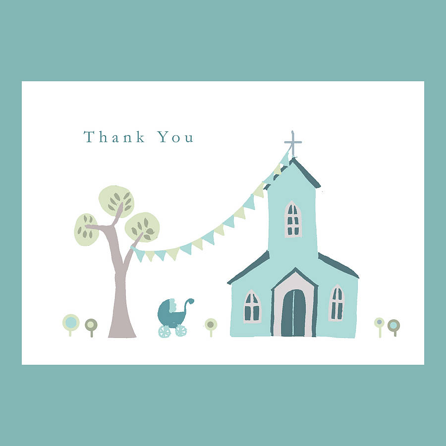 Personalised Christening Thank You Card By Molly Moo Designs Notonthehighstreet Com