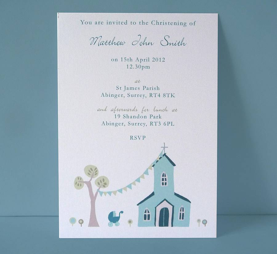 how to write christening card