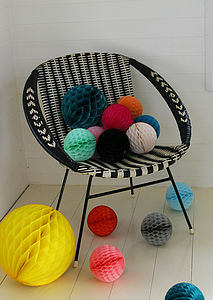 Paper Balls Medium Party Decorations - outdoor decorations