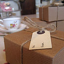 Cute Brown Recycled Gift Box & Tag
