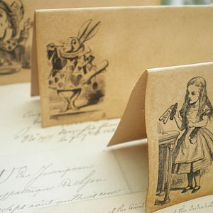 Set Of 10 Alice In Wonderland Place Cards
