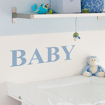 Personalised Gingham Wall Sticker