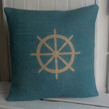 ' Nautical Ships Wheel ' Cushion