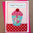 Personalised Cupcake Girls Birthday Card